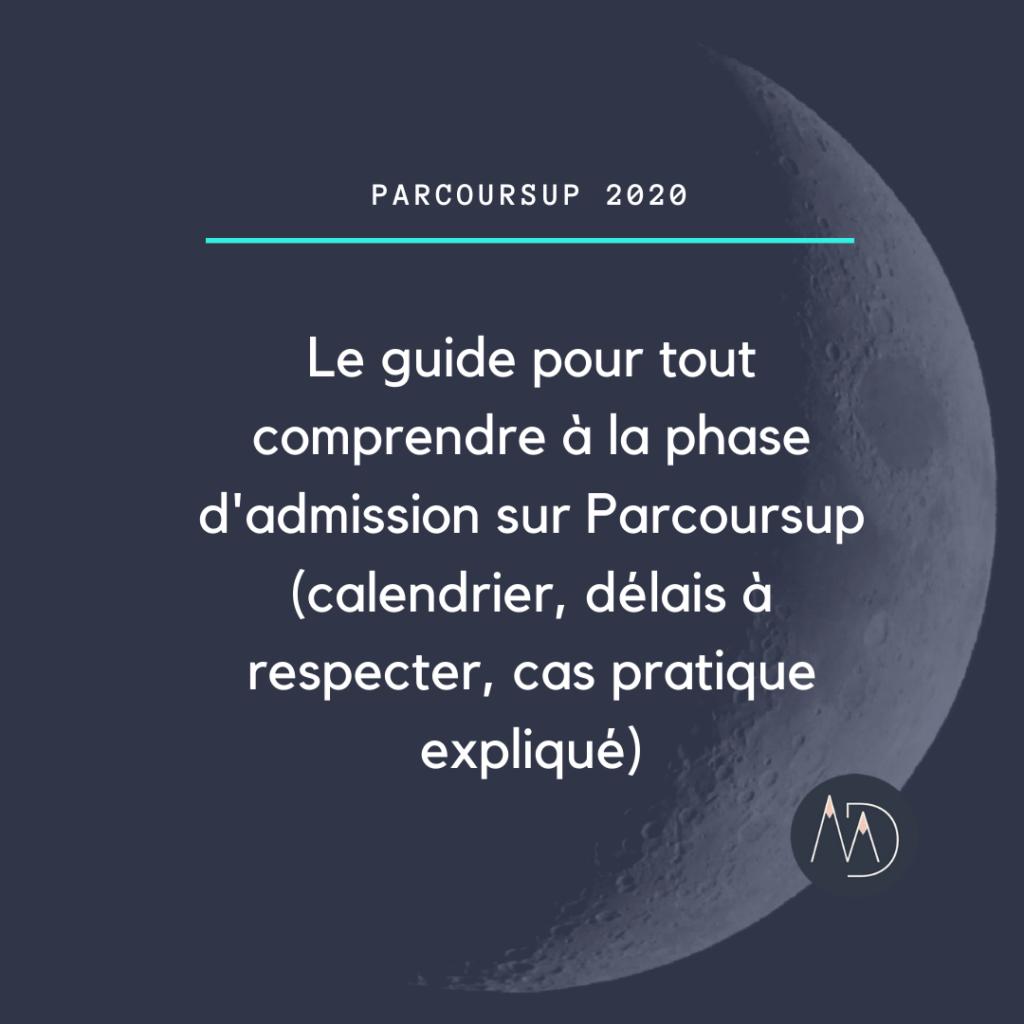 Guide phase d'admission Parcoursup