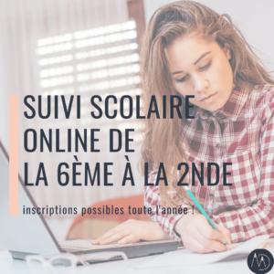 Suivi scolaire online de la 6ème à la 2nde-2